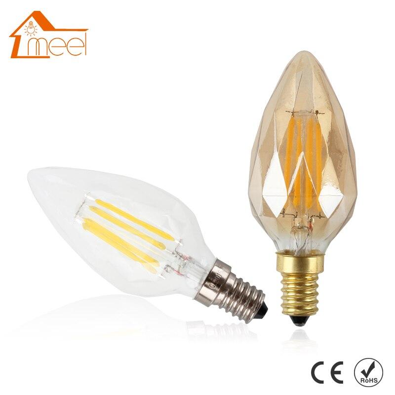 Edison Bulbs 4 Tier Led Vintage Light Bulb: 220V Energy Saving Diamond Shape Edison Filament Bulb LED
