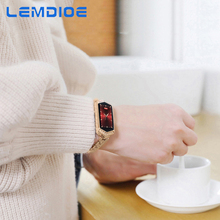 LEMDIOE fitness bracelet with blood pressure life waterproof woman bracelet heart rate monitor physiological cycle reminder