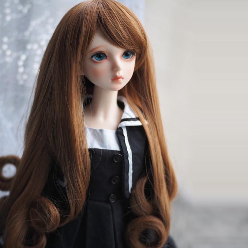 1/3 1/4 1/6 New Style Bjd SD Doll Wig High Temperature Wire Long Fashion Wavy BJD Super Dollfile Hair Wig fashion black hair extension fur wig 1 3 1 4 1 6 bjd wigs long wig for diy dollfie