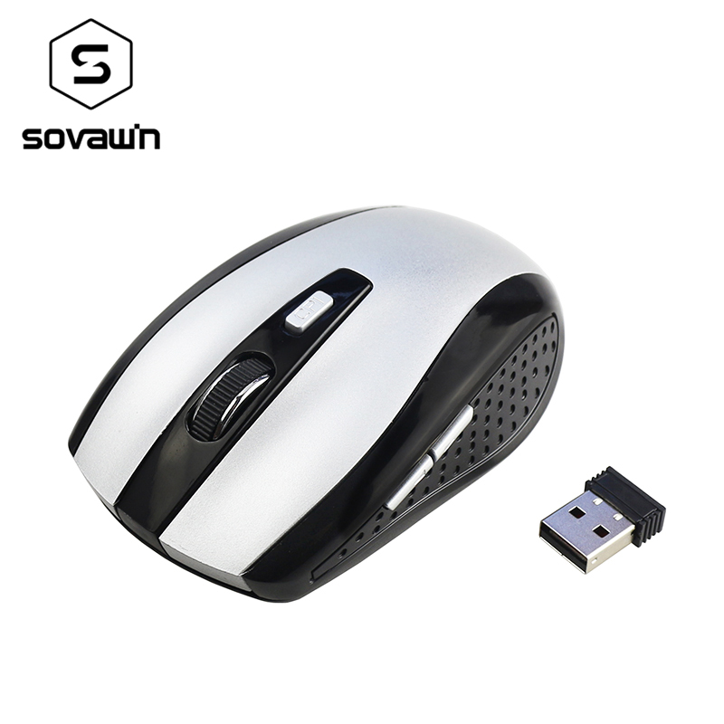 Black 2.4G Mouse Mini Portable Wireless Optical Gaming Mouse Mice For PC Laptop