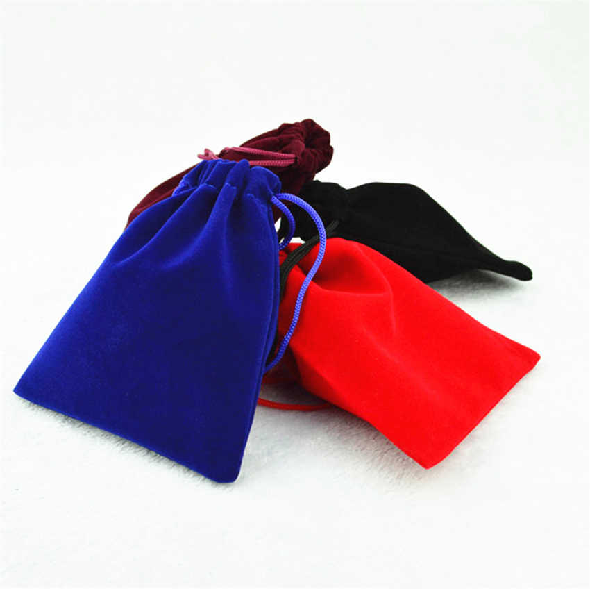 אופנה חדשה מתנת קטיפה תיק שחור קטיפה בדרגה גבוהה תיק תכשיטי תיק/קופסא תכשיטים סיטונאי 7*9 /8*10/10*12/15*20 אביזרי