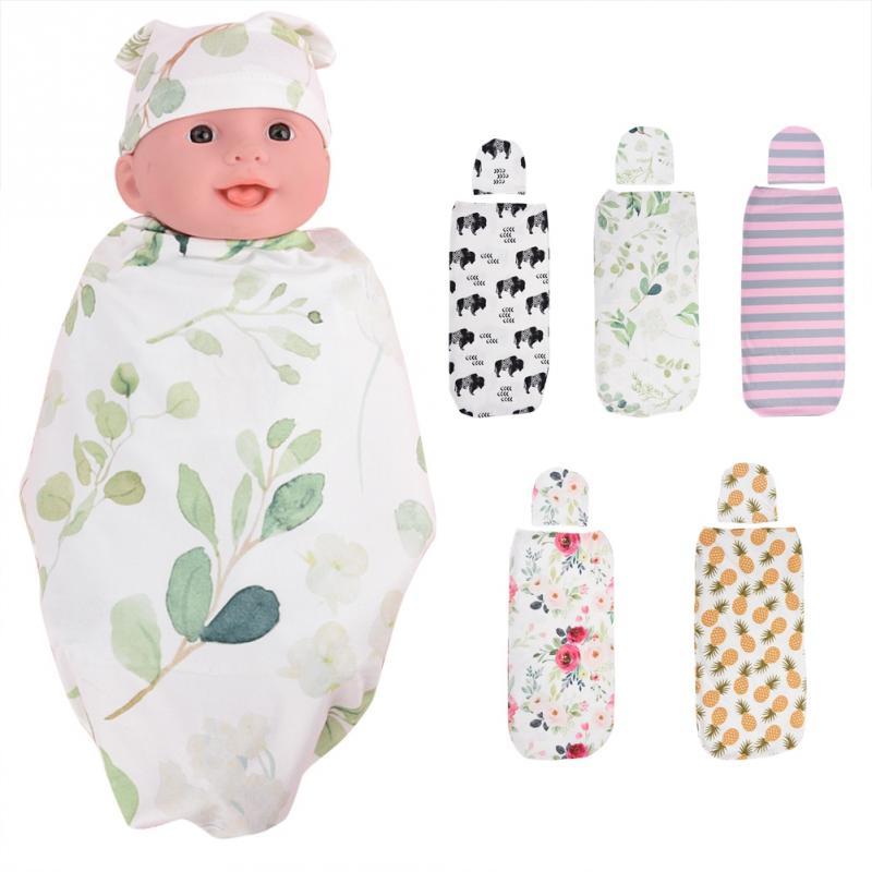 2 Teile/satz Baby Wrap Schlafsack Anti-schock 100% Baumwolle Weiche Haut-freundliche Baby Swaddle Wrap Für Neugeborene Baby Schlafsack 2018