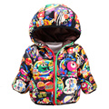 Warm Winter Kids Fashion Snow Wear Babys Hoodies Clothing Cartoon Print Infant Baby Boy Snowsuit Snow Jacket For Child