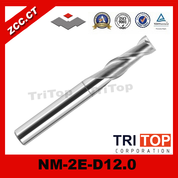 ZCC.CT NM-2E-D12.0 Solid Carbide 2 flute Flattened end mills with straight shank  tungsten milling cutter