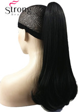 StrongBeauty Lady Dual Use Clip In Ponytail Pony Tail Hair Extension Claw On Hair Piece Straight many COLOUR CHOICES