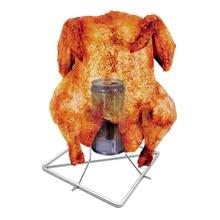 Вертел для курицы из нержавеющей стали пивная жаровня для курицы антипригарная курица утка барбекю, гриль стойка Вертикальная пивная подставка для запекания Инструменты для барбекю