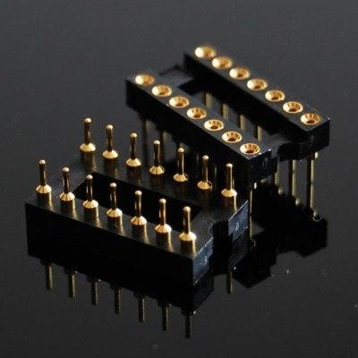 Новые 14 pin 2x7 ЗОЛОТО DIP IC гнездо панели 2.54 мм Шаг адаптер swap G14S