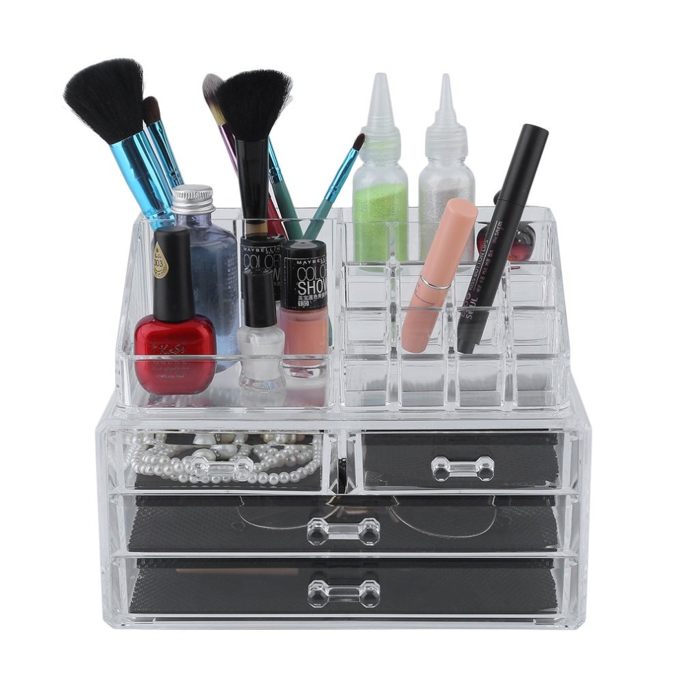 Multifuntion Transparent Cosmetic Display Box Lipstick Cosmetic Makeup Holder Organizer Creative Desktop Storage Box