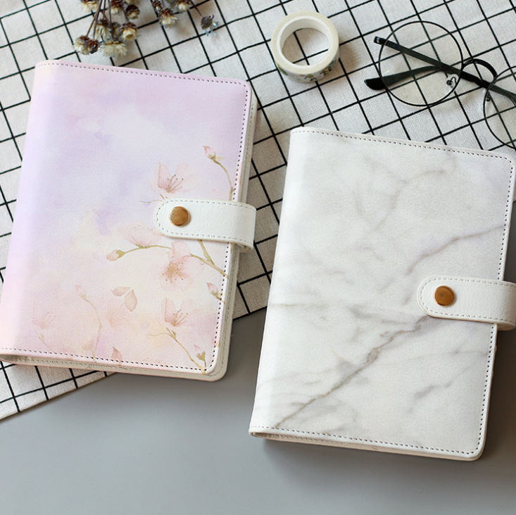 Coloffice Original stationery simple flamingo fresh six-hole loose-leaf notebook A6 notepad pu leather hand books school prizes 2018 yiwi never stationery rose standard six hole notebook handbook loose leaf page separator page index page