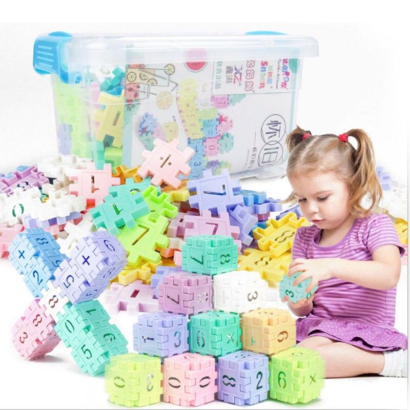 DIY Fantasies Creative Building Blocks Bricks Educational Toy Children Interconnect Blocks Toys For Children Birth Gift 24 month