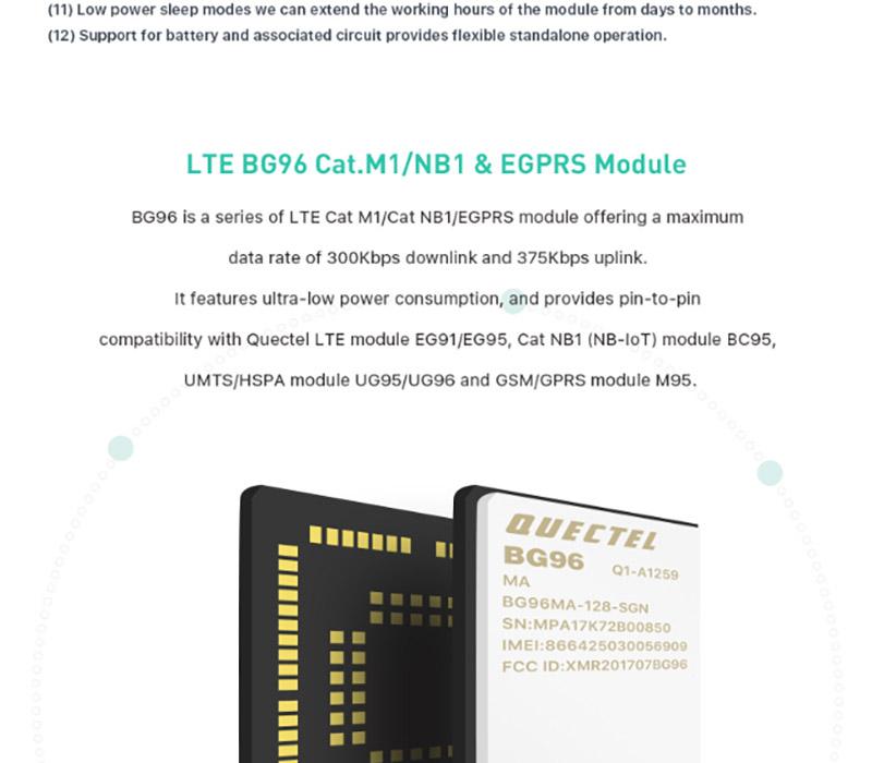 BG96 Remote Positioning Module NBIoT iTracker Pro Sensor Node and GPS  Module BLE Bluetooth 5 0 Cellular IoT module RAK8212-M 83