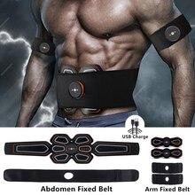 цена на EMS Muscle Toner Belt USB Charge Muscle Trainer Training Gear Abdominal Muscle Stimulator Fat Burning Equipment For Men&Women