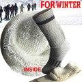 MSK01 completo terry tripulación calcetines de los hombres gruesos calcetines de invierno térmica hombres