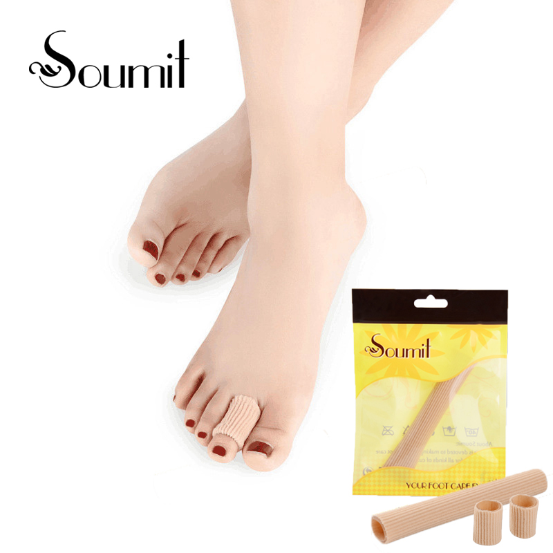 Soumit Fabric Gel Tube Bandage Insoles Finger Toes Insole Corn cover Pads Finger Toes Pain Buffer Insole soumit 5 colors professional yoga socks insoles ballet non slip five finger toe sport pilates massaging socks insole for women