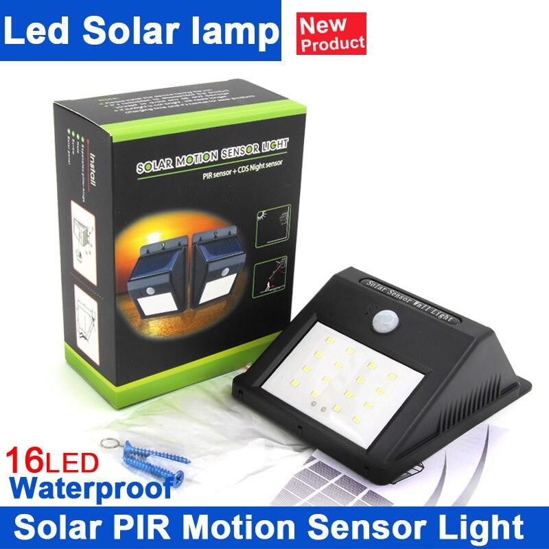 Kindomled led solar lamp pir menselijk bewegingssensor for Solar licht