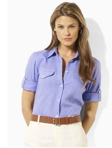 2015 para mujer caballo camisa Casual camisa de vestir de