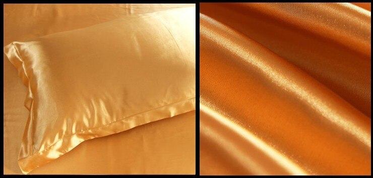 Χρυσό Σετ κλινοστρωμνής με σατέν - Αρχική υφάσματα - Φωτογραφία 2