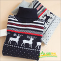 2017 New Winter Boy Sweaters Kids Knitted Sweater Boys Turtleneck Sweaters Children Outerwear Clothing