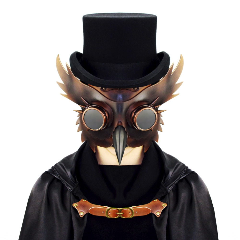 Steampunk Plague Doctor Halloween Cosplay anime Party mask
