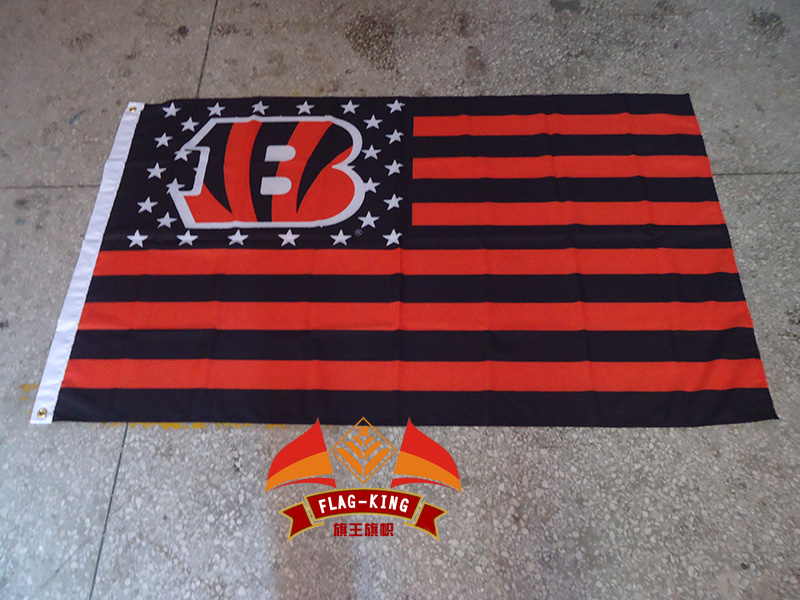 Cincinnati Bengals with USA national flag background,polyester 90*150cm,Rugby club, football sport Helmet,Digital Printing,