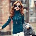 Slim Women 's T - shirt Slim size cotton high - necked long - sleeved t - shirt women' s bottoming shirt do267
