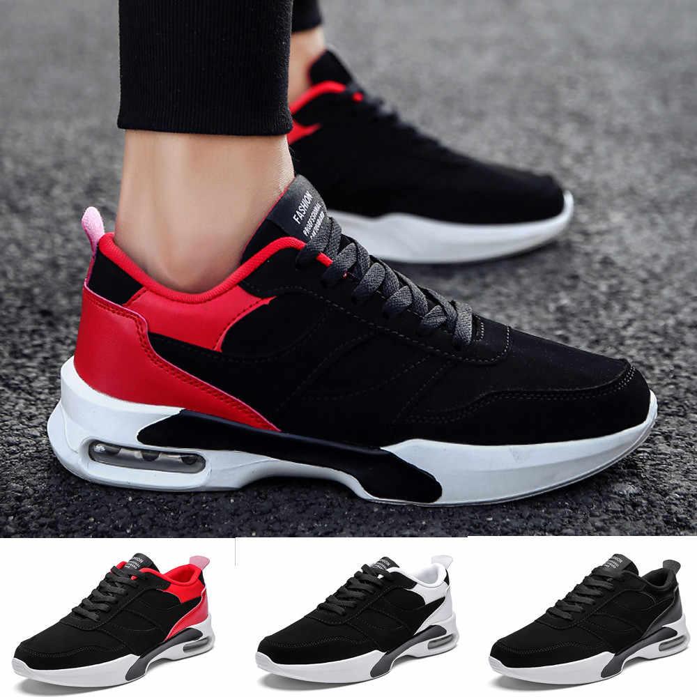 dd8fc714 ... Повседневная мужская спортивная обувь на плоской подошве, на шнуровке,  дышащая, износостойкая, нескользящая ...