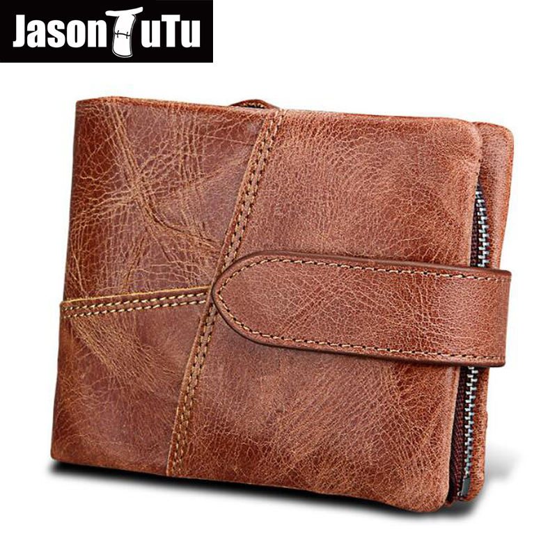 Rfid Genuine Cow Leather Men Wallet Fashion Coin Pocket Trifold Design Men Purse High Quality Women Card ID Holder FB4093