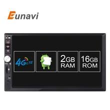 2 ГБ RAM 1024*600 HD Экран android 6.0 Автомобиль Мультимедиа Плеер Для универсальный Quad Core Android Двухместный 2 Дин Радио Головное устройство
