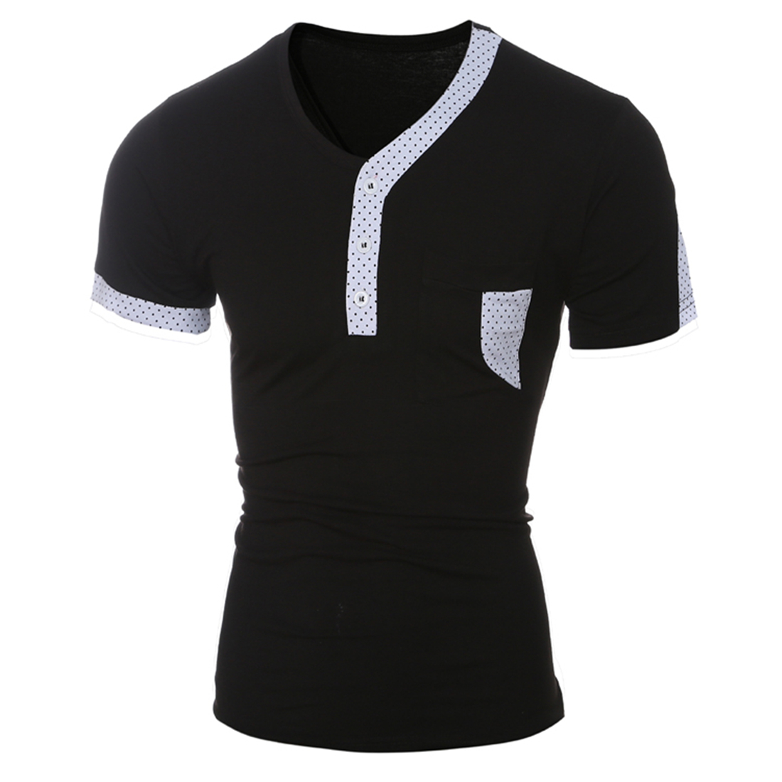 Black Short Sleeve Button Up Shirt Mens