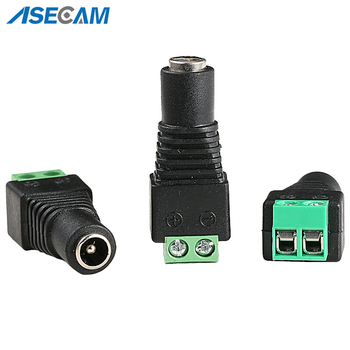 цена на Female DC Plug Power Cable Jack Connector Plug Adapter 5.5*2.1mm For LED Strip Light for CCTV Camera System