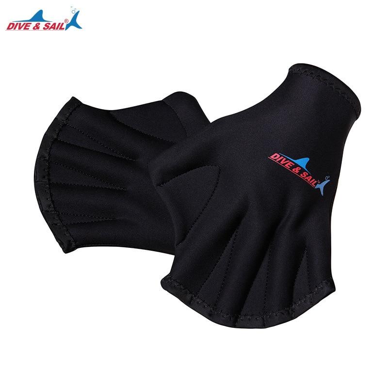 Hot 2MM Adult Neoprene Diving Webbed Gloves Swim Equipment Surfing Swimming Training Fingerless Paddle Gloves for Water Sports H