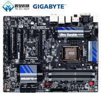 Original usado desktop placa-mãe gigabyte GA-Z87X-UD3H z87 lga 1150 núcleo i7 i5 i3 ddr3 32g sata3 usb3.0 vga dvi dp e-sata atx