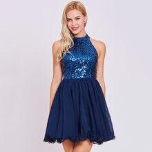 Dressv коктейльное платье с блестками темно Королевский Синий