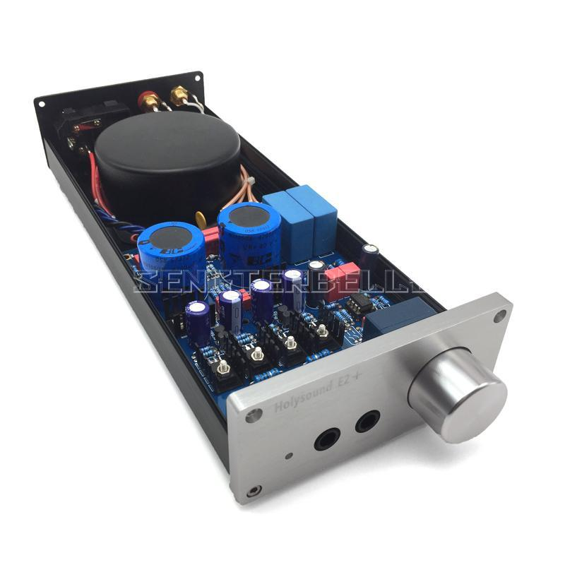 Finished E2+ Headphone Amplifier HIFI High thrust Headphone Amp Preamplifier Based Lehmann Power Amplifier finished xp7 headphone amplifier ad797 buf634 hifi headphone power amplifier new
