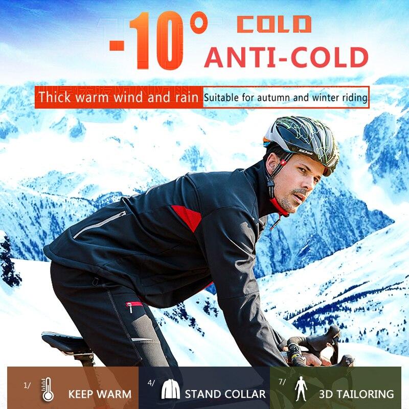 X TIGER hiver polaire thermique cyclisme veste manteau réfléchissant vélo vêtements ensemble vêtements de sport coupe vent vtt vélo maillots vêtements - 3