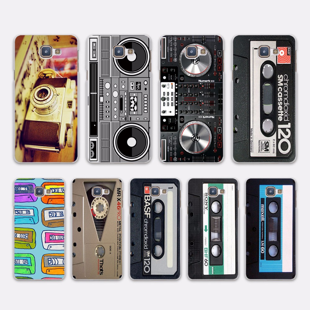 Vintage Camera audio tape cassettle style (design hard White Case Cover for Samsung Galaxy A5 2016 A5 A7 2017 A8 A9 A3 2016