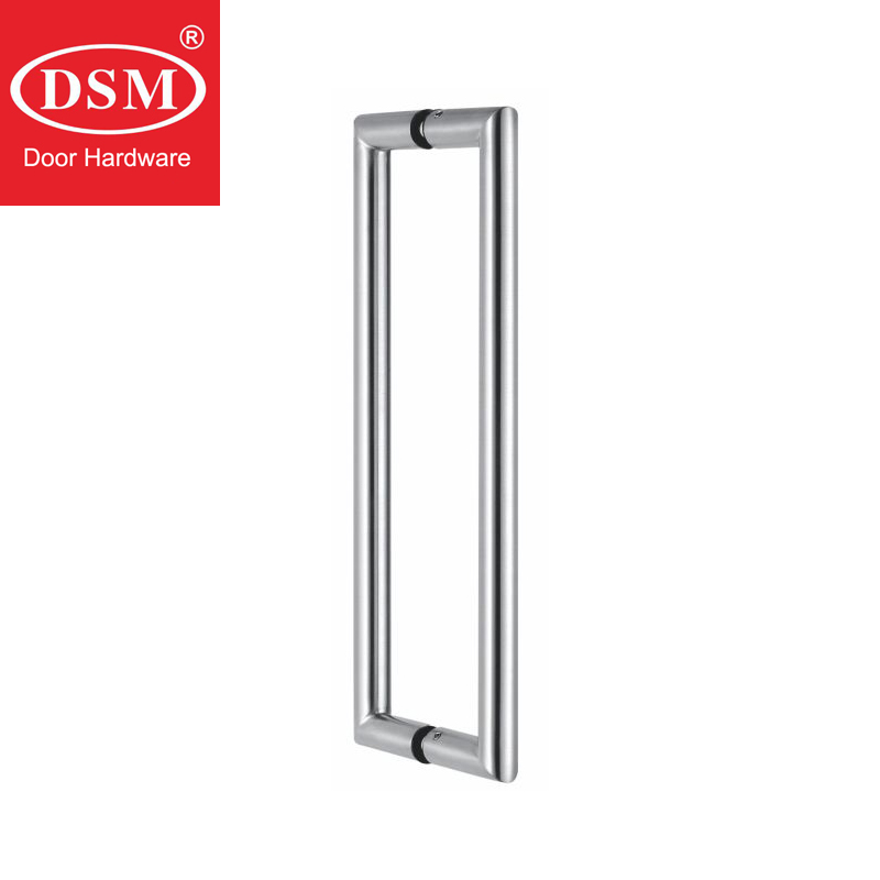 Entrance Door Handle 304 Grade Stainless Steel Pull Handles For Wooden/Metal/Glass Doors PA-124-Brushed modern entrance door handle 304 stainless steel pull handles pa 104 32 1000mm 1200mm for entry glass shop store big doors