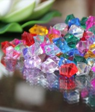 1000pcs/lot 13mm ice Crystal confetti Acrylic Clear Beads Table Scatter Water Glass Fish Tank Wedding Party Bar Decoration wi001