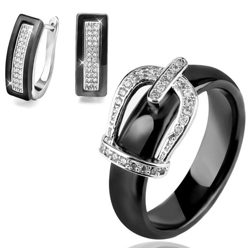 Материал для здоровья, Свадебные Ювелирные наборы для женщин, Классические хрустальные короны, свадебные украшения, обручальные серьги-гвоздики, кольца, свадебные комплекты