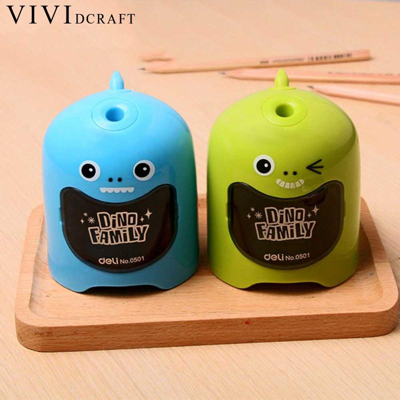 Vividcraft Electric Pencil Sharpener Student Automatic Pencil Sharpeners for Art Painting Stationery Supplies without Battery 2018 rushed 3 years old electronic automatic pencil sharpener electric special art painting student gift school supplies