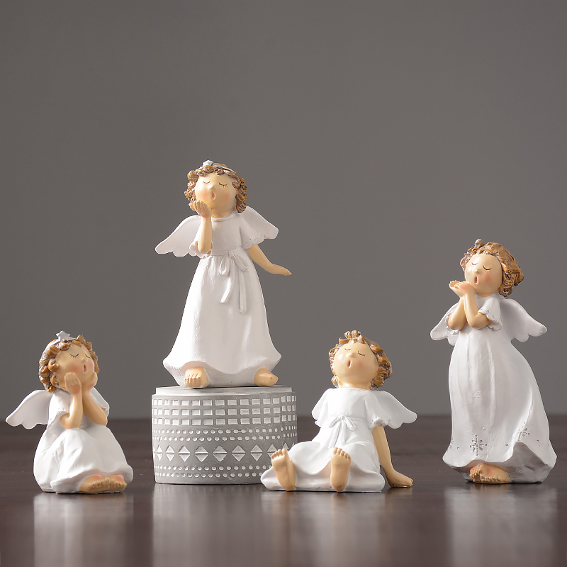Creative Small angel Lovely font b Kawai b font Resin Arts and Crafts character fairy garden