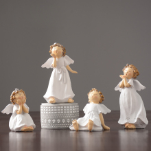 Creative Small angel Lovely Kawai Resin Arts and Crafts character fairy garden miniature figurines home decoration Birthday gift