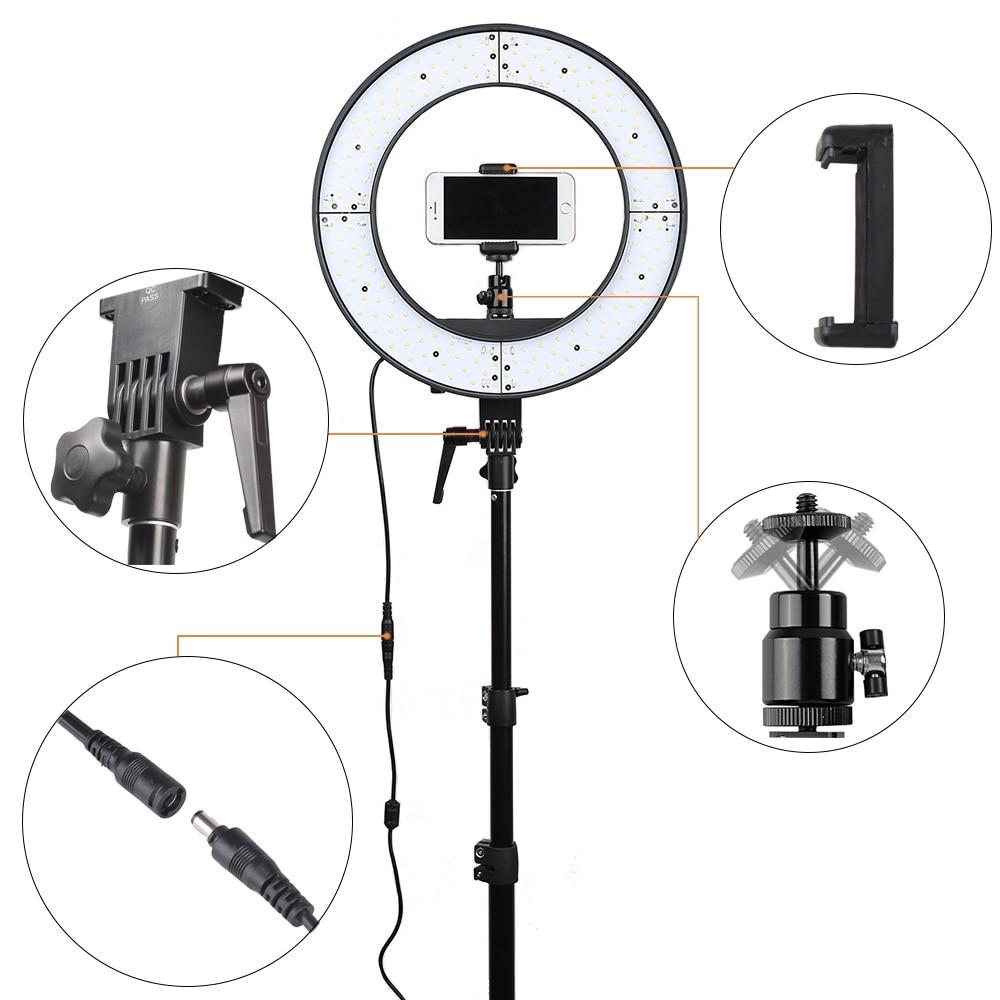 Spash RL 12 LED リングライト円形の写真撮影の照明と三脚 5500 18K CRI90 196 Led カメラ写真スタジオ電話ビデオランプ  グループ上の 家電製品 からの 写真用照明 の中 3