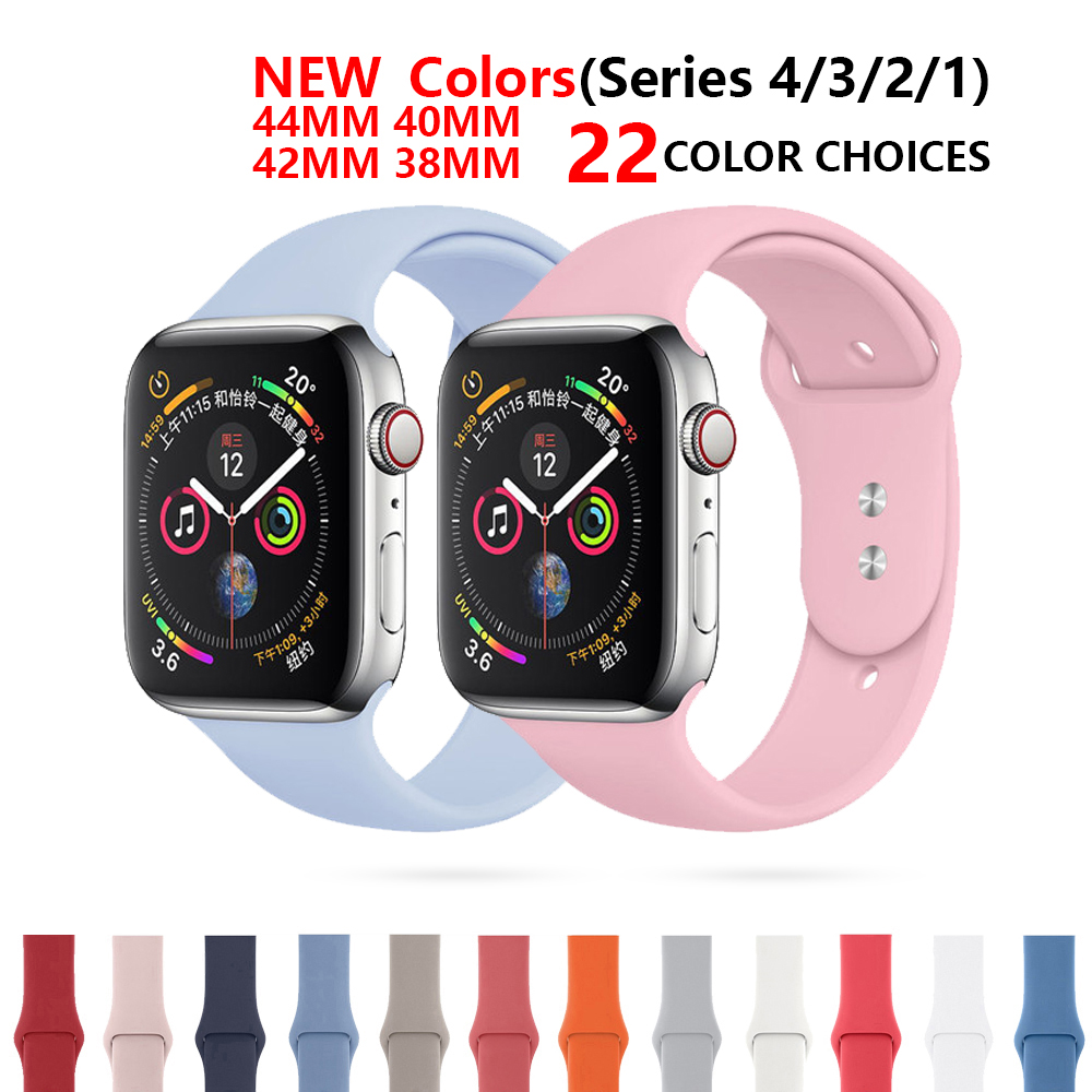 CRESTED Silicone Strap For Apple Watch Band 4 3 iwatch band 42mm 44mm 38mm 40mm Sport bracelet Wrist Correa Watchband AccessorieCRESTED Silicone Strap For Apple Watch Band 4 3 iwatch band 42mm 44mm 38mm 40mm Sport bracelet Wrist Correa Watchband Accessorie