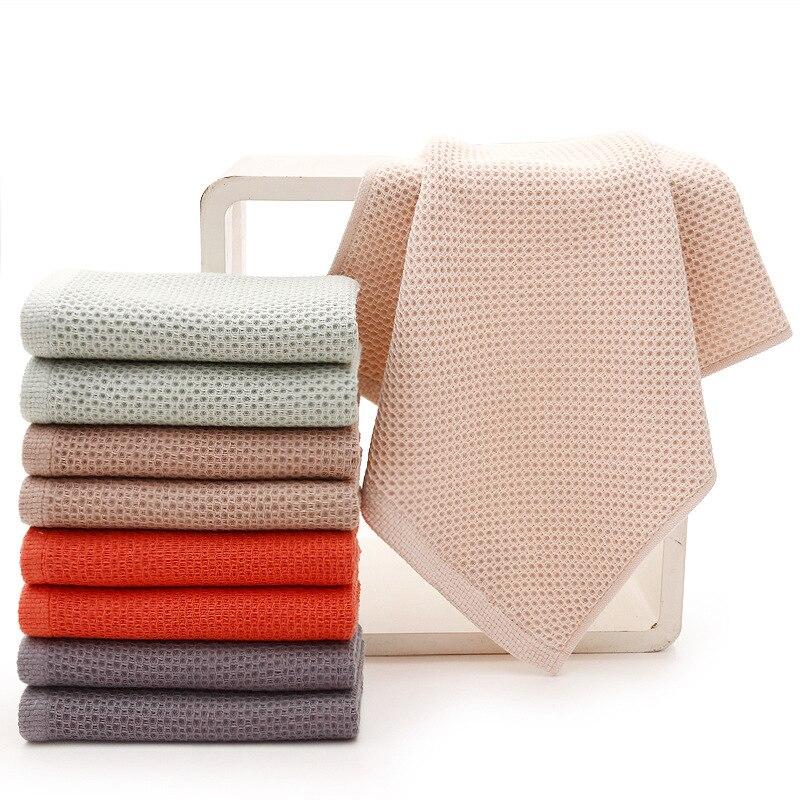Image 3 - 1pc algodão super macio favo de mel toalha cor sólida super  absorvente portátil cabelo rosto toalhas de viagem toalha de banheiro  para casa hotelToal. rosto