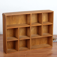 Retro Wooden Wall Hanging Storage Box Succulent Plants Wood Tray