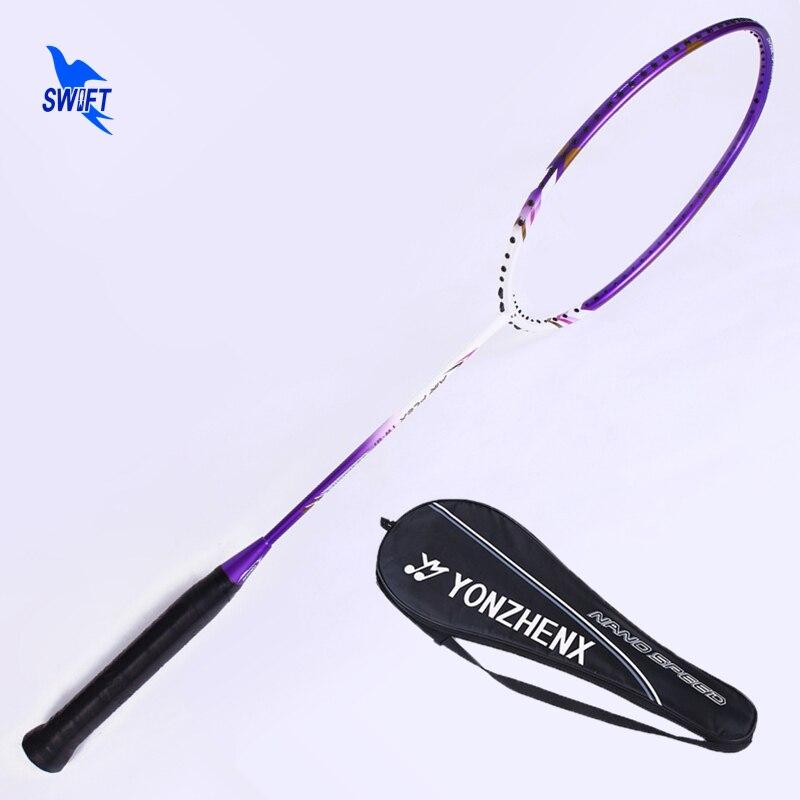 Nano Fiber De Carbone Haute Tension Raquettes De Badminton Unique 3U Professionnel G3 Raquette De Badminton Balle Type De Contrôle avec Sac Original