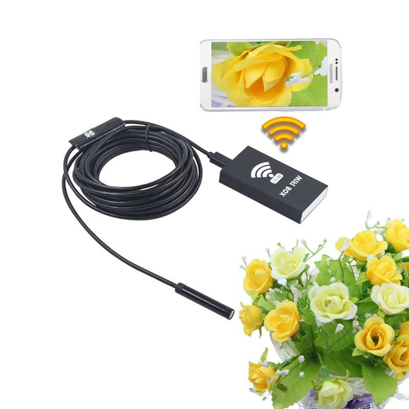 Wireless Wifi Box For 5.5mm 7mm 8mm 10mm 5.5m USB Android Endoscope Mini Camera Snake Tube Wifi Endoscope Camera For IOS Windows