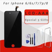 AAA качественный ЖК экран для iphone 6, замена дисплея в сборе с оригинальным дигитайзером, запчасти для телефонов для iphone 7, 7, p, 8, ЖК дисплей