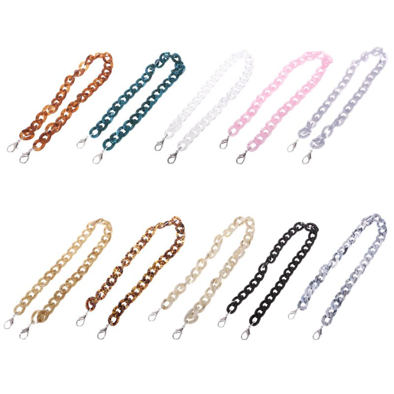 60-120cm Fashion Resin Chain Replacement Handle Shoulder Crossbody Handbag Bag Strap Coloful